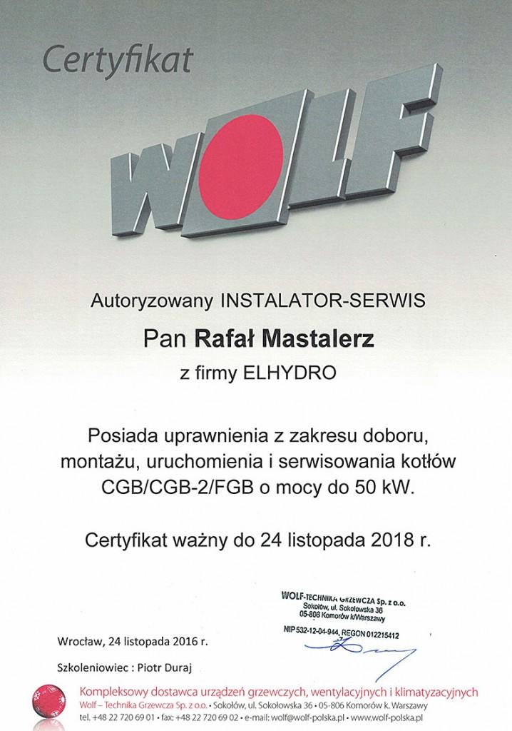 certyfikat wolf nowy sącz